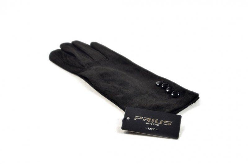Rękawiczki damskie PRIUS czarne dotykowe smartfon