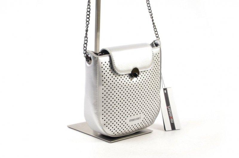 TOREBKA damska MONNARI BAG 1300 srebrna listonoszka