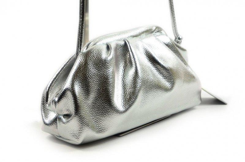 TOREBKA kopertówka wizytowa CESILY srebrna