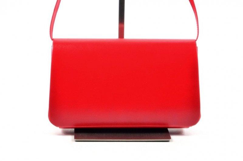 TOREBKA kopertówka SAPAR wizytowa czerwona matowa