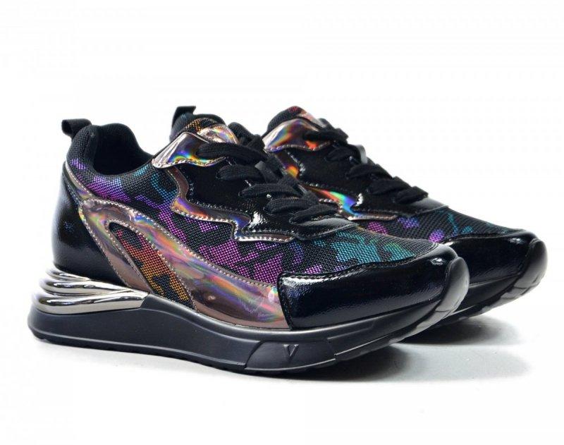 Półbuty 37 sneakersy VINCEZA 10676 czarne kolorowe