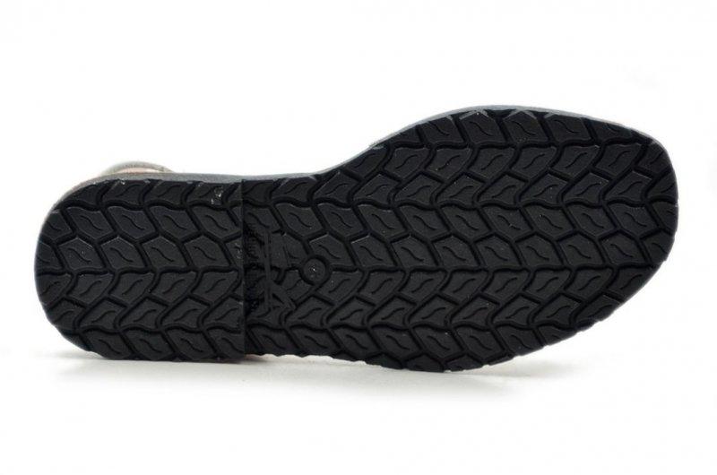 Sandały 36 skórzane VERANO 287 białe srebrne klapki