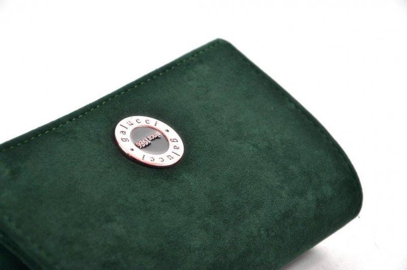 TOREBKA kopertówka GALUCCI wizytowa zielona morska matowa