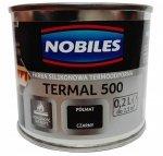 Nobiles Termal 500 CZARNY 0,2L termoodporna farba silikonowa PÓŁMAT