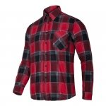 LAHTI PRO Koszula robocza flanelowa XL krata 120g czerwona