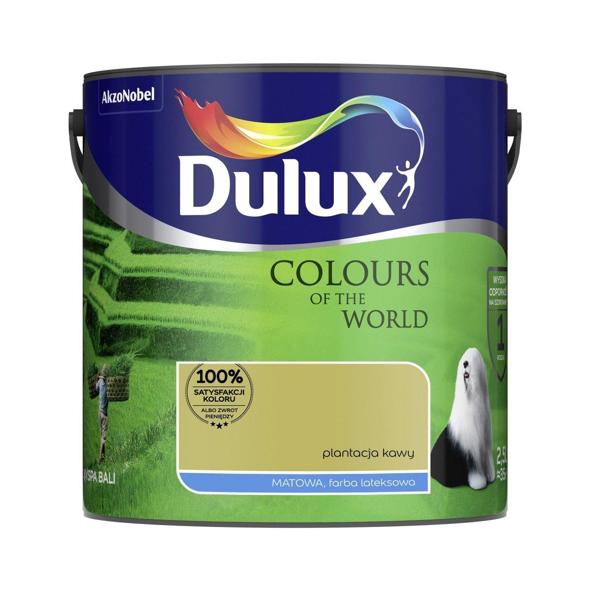 Dulux Kolory Swiata 2 5l Plantacja Kawy Farba Matowa Lateksowa Do