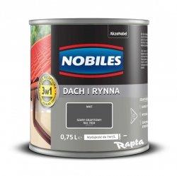 Nobiles Dach Rynna 0,75L SZARY GRAFITOWY RAL7024 farba na ocynk gruntoemalia