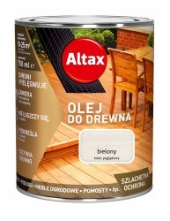 Altax olej do drewna 0,75L BIELONY BIAŁY tarasów