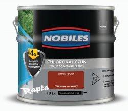 Chlorokauczuk 10L CZERWONY TLENKOWY Nobiles farba emalia