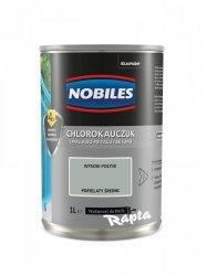 Chlorokauczuk 1L POPIELATY ŚREDNI Nobiles farba emalia