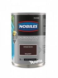 Chlorokauczuk 1L BRĄZOWY Nobiles farba emalia