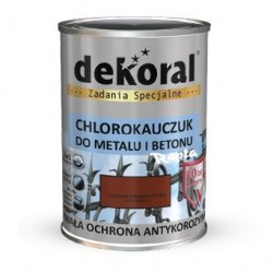 Dekoral Chlorokauczuk 0,9L CZERWIEŃ TLENKOWA CIEMNA RAL3009 farba emalia