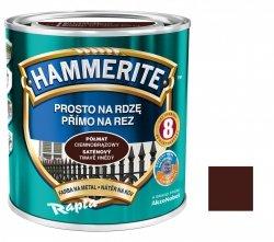 Hammerite Na Rdzę 0,7L CIEMNOBRĄZOWY PÓŁMAT hamerite farba