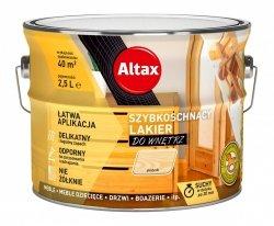 Altax lakier szybkoschnący drewna POŁYSK 2,5L bezbarwny do wnętrz