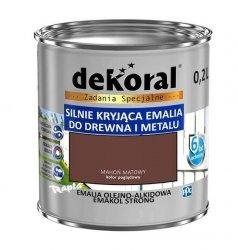 Dekoral Olejna 0,2L MAHOŃ MAT emakol alkidowa emalia strong