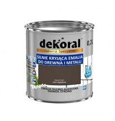 Dekoral Olejna 0,2L BRĄZOWY emakol alkidowa emalia strong