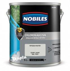 Chlorokauczuk 5L SZARY JASNY RAL 7035 Nobiles farba emalia