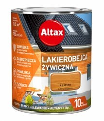 Altax Lakierobejca 0,75L KASZTAN Żywiczna Drewna Szybkoschnąca