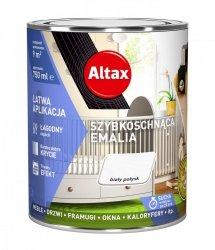 Altax Emalia Szybkoschnąca Biały POŁYSK 0,75L akrylowa wodna do drewna metalu