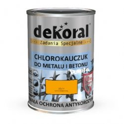 Dekoral Chlorokauczuk 10L ŻÓŁTY RAL1007 farba emalia