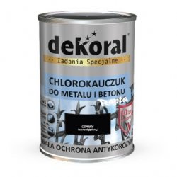 Dekoral Chlorokauczuk 0,9L CZARNY RAL9005 farba emalia