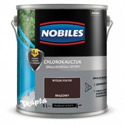 Chlorokauczuk 5L BRĄZOWY Nobiles farba emalia