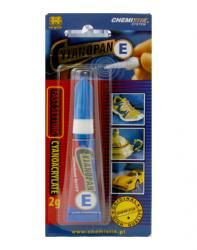 Klej Cyjanopan E 2g do połączeń elastycznych cyjanoakrylowy