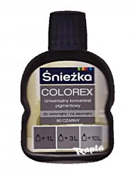 Śnieżka Colorex Pigment 100ml czarny 90 barwnik do farby