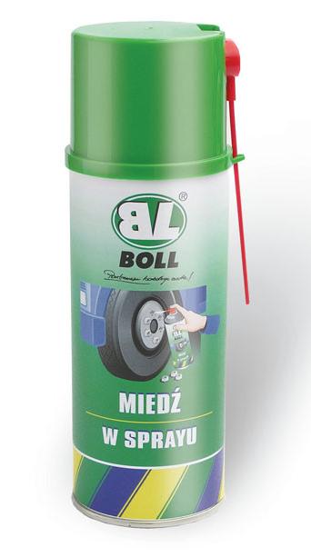 BOLL Smar Miedziany Spray 400ml Miedziowy Środek Miedź zabezpiecza przed zapieczeniem Miedź w Sprayu