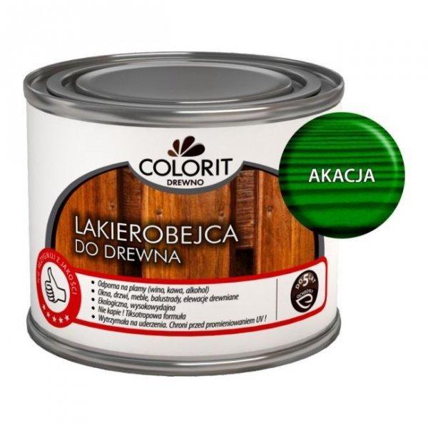 Colorit Lakierobejca Drewna 375ml AKACJA ZIELONY szybkoschnąca satynowa farba do