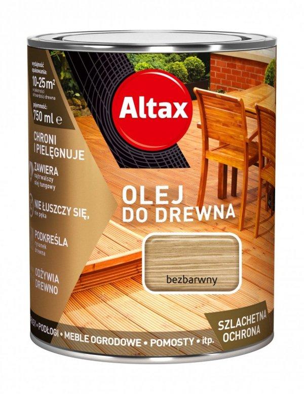 Altax olej do drewna 0,75L BEZBARWNY UV tarasów