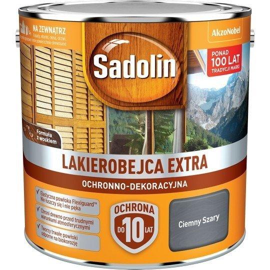 Sadolin Extra lakierobejca 2,5L SZARY CIEMNY drewna