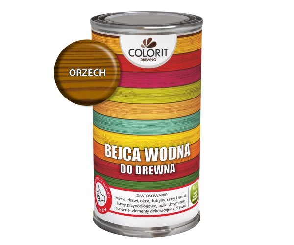 Colorit Bejca Wodna Do Drewna 0,5L ORZECH 500ml do