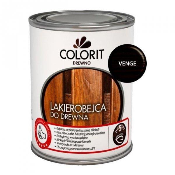 Colorit Lakierobejca Drewna 0,75L VENGE WENGE szybkoschnąca satynowa farba do