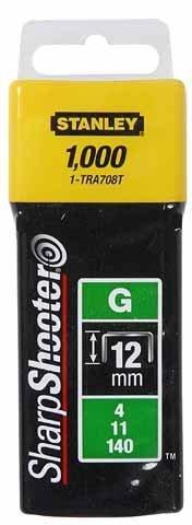 STANLEY Zszywki typ G 12mm 1000 szt zszywka 1-TRA708T