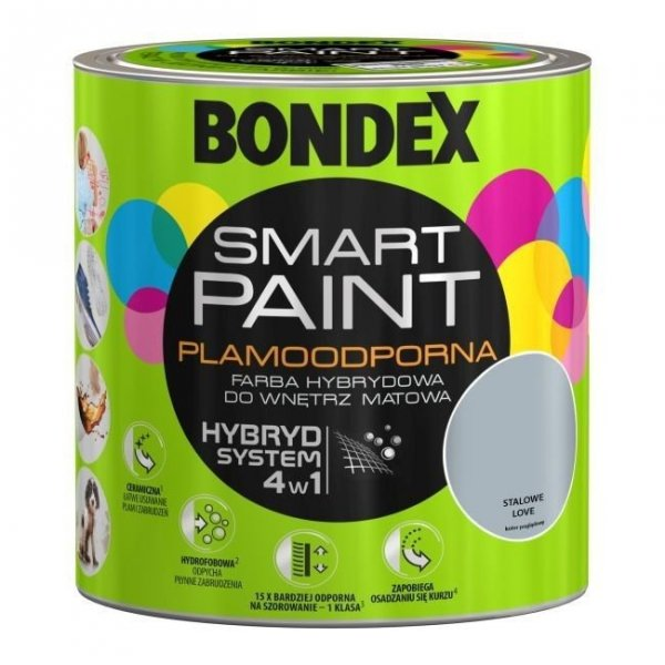 Bondex Smart Paint 2,5L STALOWE LOVE