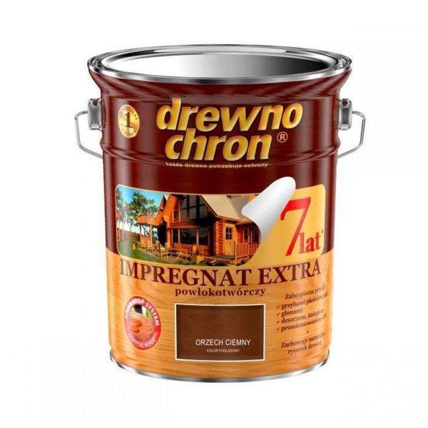 Drewnochron ORZECH CIEMNY 4,5L Impregnat Extra drewna do powłokotwórczy