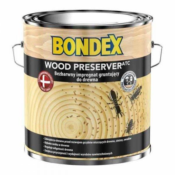 Bondex Wood Preserver Impregnat 2,5L Grunt-ujący do drewna