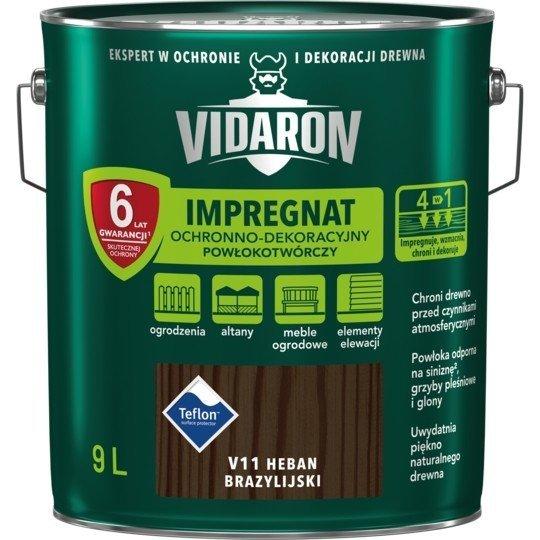 Vidaron Impregnat 9L V11 Heban Brazylijski do drewna powłokotwórczy