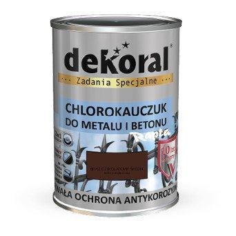 Dekoral Chlorokauczuk 0,9L BRĄZ RAL8017 CZEKOLADOWY ŚREDNI farba emalia
