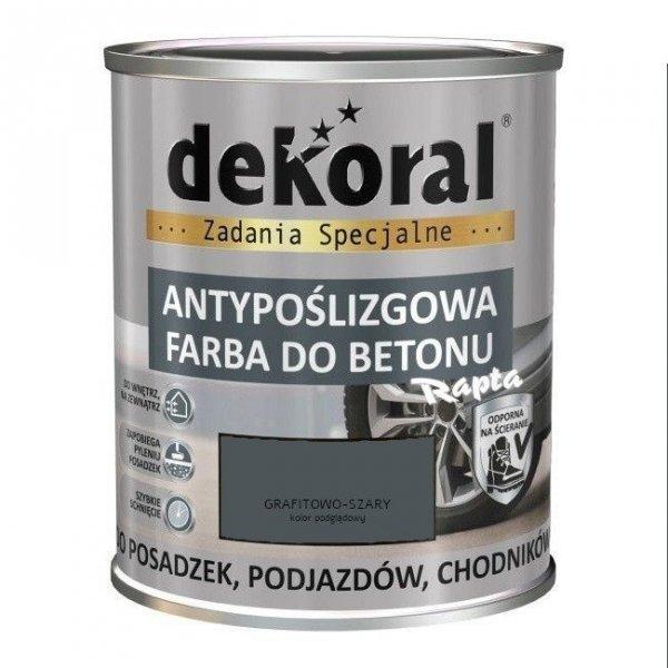 Dekoral Do Betonu 0,75L GRAFITOWO-SZARY Akrylit B Antypoślizgowa Farba