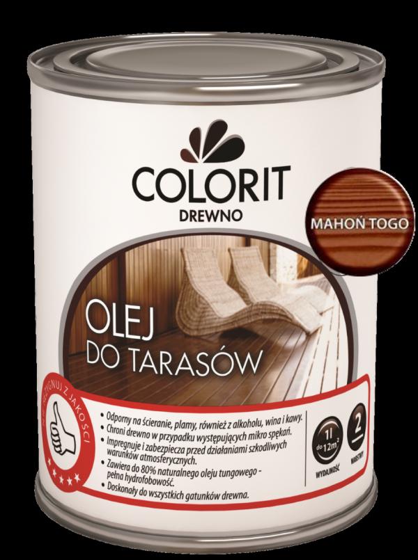 Colorit Olej Do Drewna Tarasów 0,75L MAHOŃ TOGO 750ml