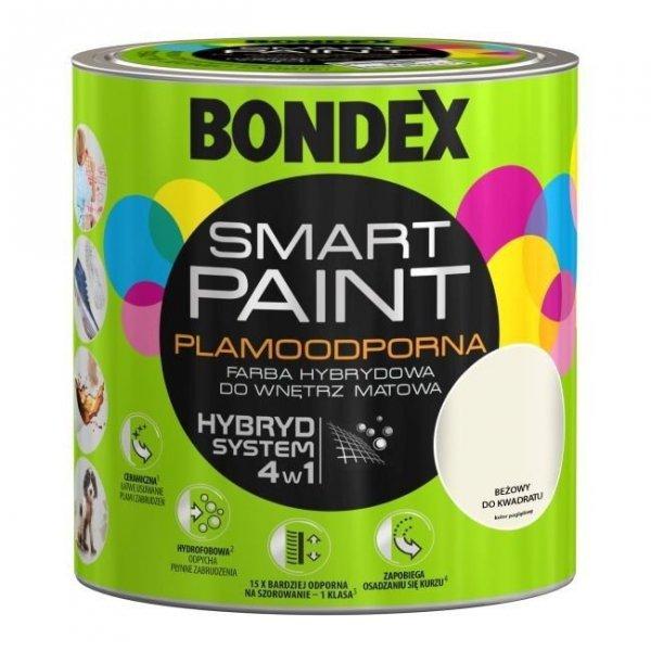 Bondex Smart Paint 2,5L BEŻOWY DO KWADRATU