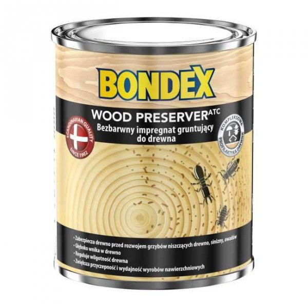 Bondex Wood Preserver Impregnat 0,75L Gruntujący do drewna