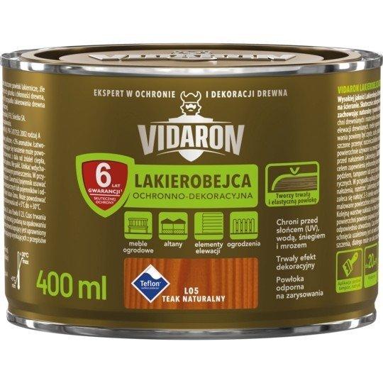 Vidaron Lakierobejca 0,4L L05 Teak Naturalny do drewna
