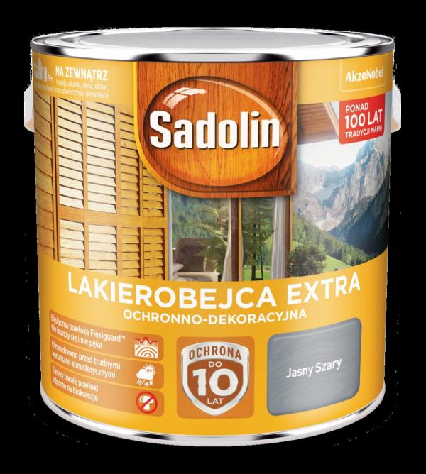 Sadolin Extra lakierobejca 2,5L SZARY JASNY drewna