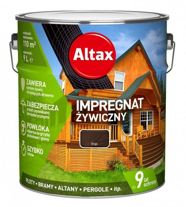 Altax Impregnat 9L BRĄZ Żywiczny Drewna Szybkoschnący