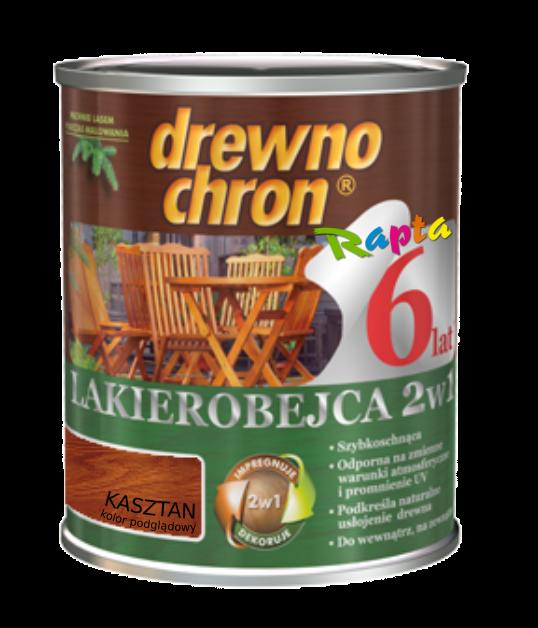 Drewnochron 2w1 Lakierobejca KASZTAN 0,8L drewna do