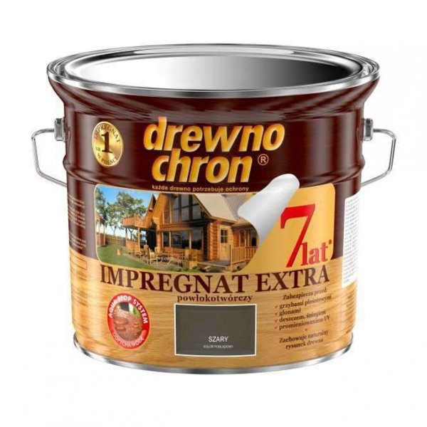 Drewnochron SZARY 2,5L Impregnat Extra drewna do