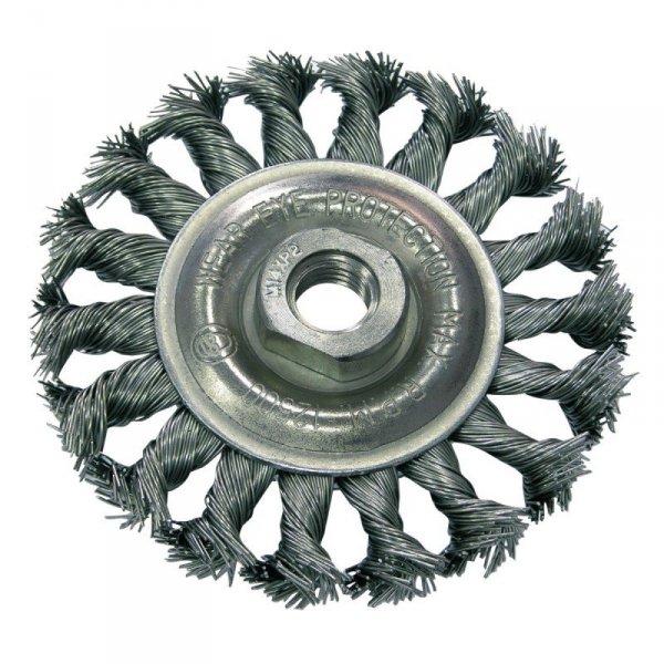 Szczotka druciana tarczowa śr. 100mm drut skręcany gwint 32530 PROLINE